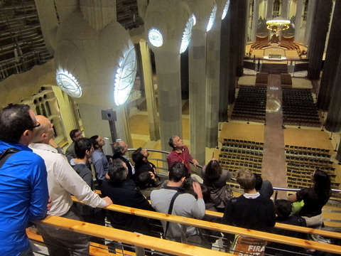 Crònica de la visita Tecnològica a la Sagrada Família