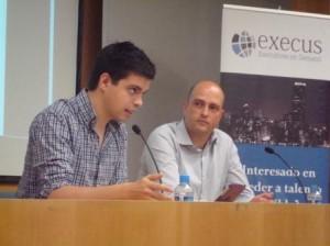 Pau Garcia-Milà i el Sr. Montero, president de la XTB